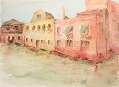 Acuarela - Fachadas de Venecia. Watercolour - Facades of Venice. HMZEN'14