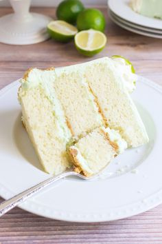 This Key Lime Cake features three layers of fluffy white cake with a hint of lime, a buttery graham cracker crumble in between each layer, and a sweet yet tangy key lime buttercream frosting. classic summer flavors and perfect for any gathering! Cupcake Recipes, Baking Recipes, Cupcake Cakes, Dessert Recipes, Baking Ideas, Macaron Cake, Cupcake Ideas, Food Cakes, Frosting Recipes
