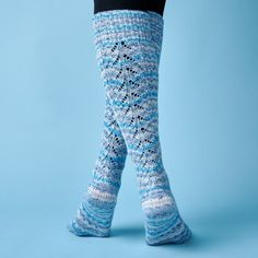 Amazone - Knæstrømper fra Knitting Patterns, Crochet Patterns, Thigh High Boots Heels, Heel Boots, Knee Socks, High Socks, High Knees, Sock Yarn, Knit Or Crochet