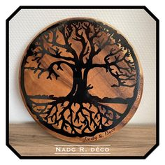 Barware, Coasters, Vintage, Etsy, Unique Jewelry, Objects, Tree Of Life, Solid Wood, Coaster