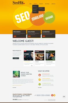 Website Template , SEO Website