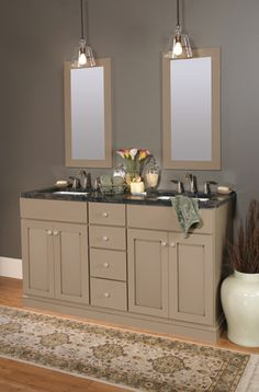 Perfect Find This Pin And More On Bathrooms. Vienna Maple, Pebble Java Via Wellborn  Cabinets