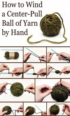 Keep Yarn Organized: Learn How to Wind a Center-Pull Ball By Hand crocheted-ideas