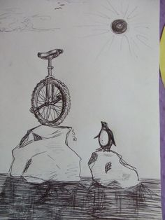 Unicycle and Penguin by ~Izzy-T on deviantART