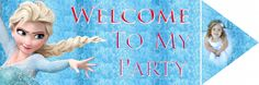Frozen Party Welcome Sign