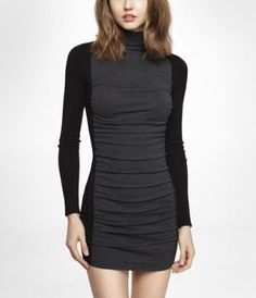 11/12/13 - When temperatures get this low, you still have to look good. This turtleneck sweater dress from Express will be the perfect fix!