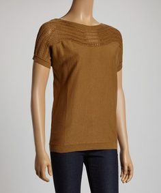 This Latte Linen-Blend Sweater is perfect! #zulilyfinds