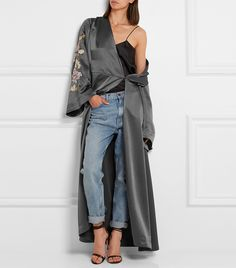 We called this one at the beginning of fall; robe coats are the cool girl's answer to a stuffy peacoat. Try yours for day with a blazer and skirt, or at night with a slip dress and heels. 8 Trends That Are Going to Be Huge in 2017 via @WhoWhatWear