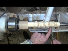 Wood Turning - How to produce a Spiral Twist in Wood Part 2 - YouTube