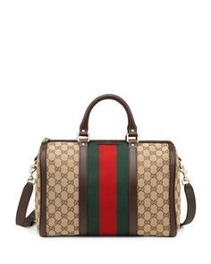 Vintage Web Medium Boston Bag by Gucci at Neiman Marcus.