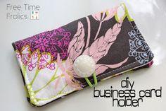 Free Time Frolics: Business Card Holder DIY