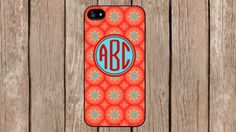 Personalized Monogram Oriental Orange Pattern case for iPhone 4/4s/5/5s/5c Samsung Galaxy S3/S4/S5/Note 2/Note 3 by TopCraftCase, $6.99