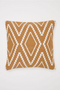 61fd0210 Jacquard-weave cushion cover - Camel - Home All | H&M CA 3 Furniture Decor