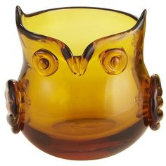 Amber Owl Votive Holder $5.95