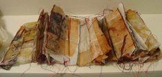 Tea Stories by Masha Ryskin - intaglio, monoprint, teabags 12 in x 7 in
