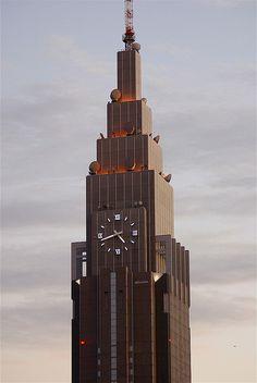 NTT Docomo Yoyogi Building, Tokyo Tokyo Trip, Tokyo Travel, Japan Tourism, Investment Companies, Japan Photo, Steel Buildings, Business Travel, Willis Tower, Engineering