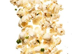 Ranch (No. 2) : Melt 4 tablespoons butter with a 1-ounce packet ranch seasoning mix; toss with 16 cups hot popcorn and 2 tablespoons chopped chives. Season with salt.