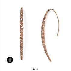 Alex Bittar Miss Havisham Spear Earrings NWT from Bloomingdales, Yellow Gold. Alexis Bittar Jewelry Earrings