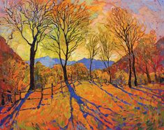 Erin Hanson, Crystal Dawn, oil, 50 x 40. See more of her paintings in orange at her gallery in Los Angeles.