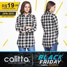 A #BlackFriday na #CalittaBrasil já começou! Conheça a nova coleção de #BlusasFemininas com super preços e todo o site com 20% de Desconto o mês inteiro. Confira >  www.calitta.com