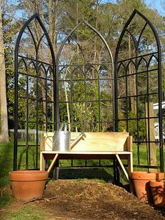 Simple Metal Trellis | Gardening | Pinterest | Metals, Simple And Trellis