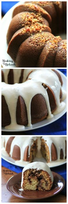 Noshing with the Nolands: Cinnamon Roll Bundt Cake with Cream Cheese Glaze Baking Recipes, Cake Recipes, Dessert Recipes, Cupcakes, Cupcake Cakes, Sweets Cake, Bunt Cakes, Cake With Cream Cheese, Food Cakes