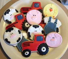 Baby Shower Farm Cookies | Cookie Connection