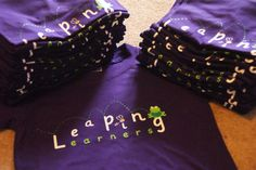 Pre-school toddler purple t-shirts for Leaping Learners.