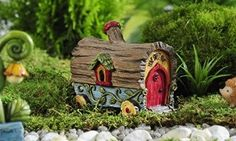 Giftcraft 3'' Miniature/Fairy Garden Covered Wagon House