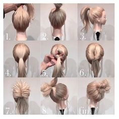 How to Style Your Blonde Hair into a High Bun | Makeup Mania