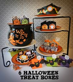 Lots of Halloween Treat Boxes for Party Favors, Classroom Treats and Trick or Treaters-So Much Fun! #HalloweenTreats #Halloween