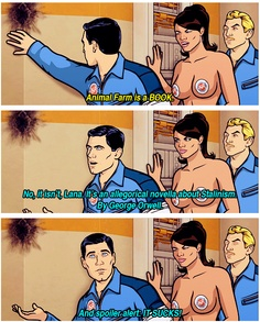 Lmao, Archer is ridiculously smart, but also he's a fucking idiot. Archer Tv Show, Archer Fx, Archer Funny, Archer Quotes, Sterling Archer, Book Authors, Books, Danger Zone, Adult Cartoons