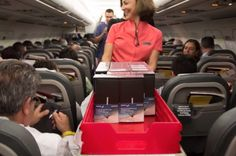"""Samsung Spain hands out 200 free Galaxy Note 8 units on a plane. """"A year we wouldn't let you use a Note on a plane now you can."""""""