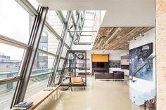 A cobertura de vidro de dois andares em Soho