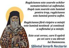 Sf. Ierarh Nectarie Power Of Prayer, Ecards, Prayers, Memes, Mai, E Cards, Meme, Prayer, Beans
