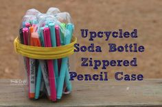 Upcycled Soda Bottle Pencil Case!