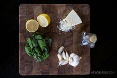 Tasty tuesday- Homemade, nut-free Pesto- www.meghan-leigh.com/blog