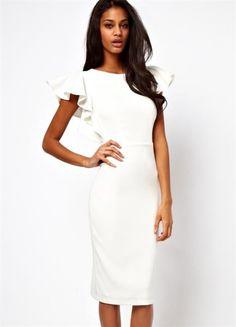 Купить классическое белое платье