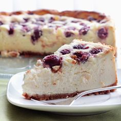 Cherry cheesecake #foodgawker