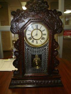Antique Clocks: Ansonia Clock, ansonia clock co, exact model Unique Clocks, Vintage Clocks, Old Clocks, Old Fashioned Clock, Family Clock, Ansonia Clock, Clock Shop, Pendulum Clock, Internal Design