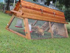 Custom Built A-Frame Chicken Coop. 4x8x3.5. Cedar. Fits 4-6 hens depending on size. $500.
