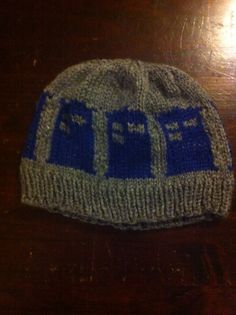 Dr. Who Tardis Hat for my Grand Son Beck.