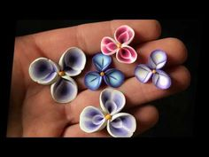 Polymer Clay Flower Petal Cane Tutorial - YouTube