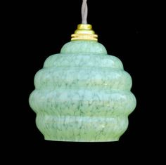 French Art Deco Glass Pendant Light Shade by CoupdeCoeurBrocAntiq