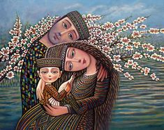 Family, folklore, childhood and fairy tales through Armenian artist Sevada Grigoryan's detailed and colorful figurative paintings - Art People Gallery