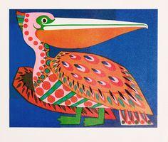 David Klein: Pelican - First National City Zoo Print, 1967