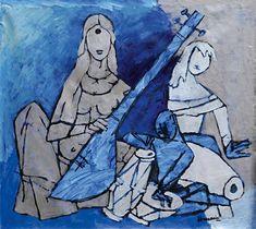 M.F. Husain (Indian,1915-2011) | Untitled, 1990.
