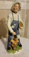 Home Interior Figurines Homco Farmer Old Man 1409 Vintage Homco 8''