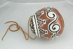 Authentic Native American Apache Ceremonial Rattle Anasazi design