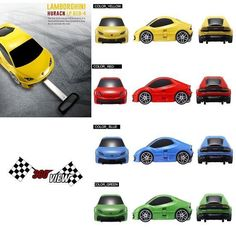 Lamborghini Toy Kid Wheeled Travel Case Carry On Luggage Yellow/Red/Blue/Green #LUCKYFACTORY